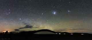 Magellanic Clouds Loom Over the Futuristic Hotel from 'Quantum of Solace' (Photo)