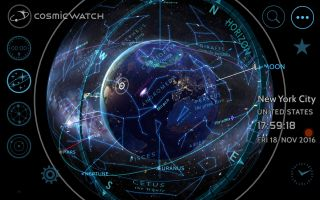Cosmic Watch App Astronomy Mode