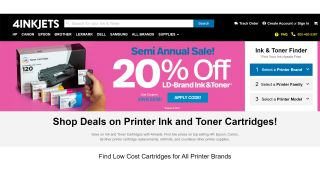 Save 20% off ink and toner at 4inkjets, for a limited time only