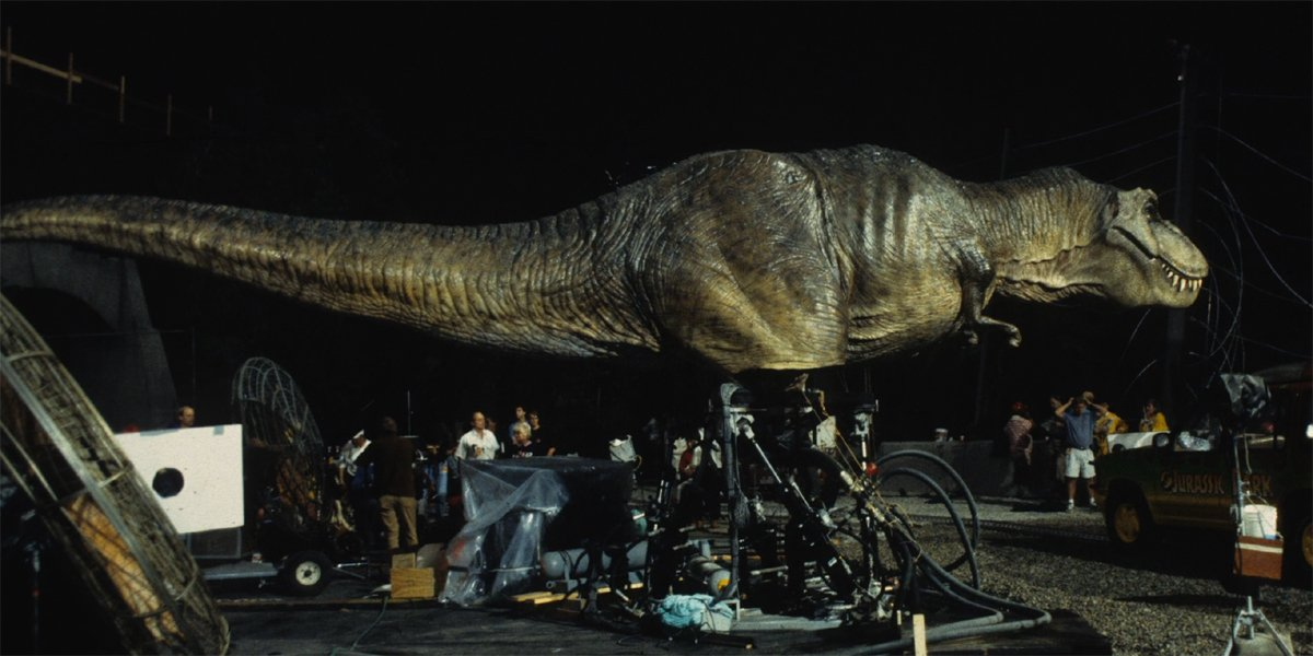 Jurassic Park T-rex model