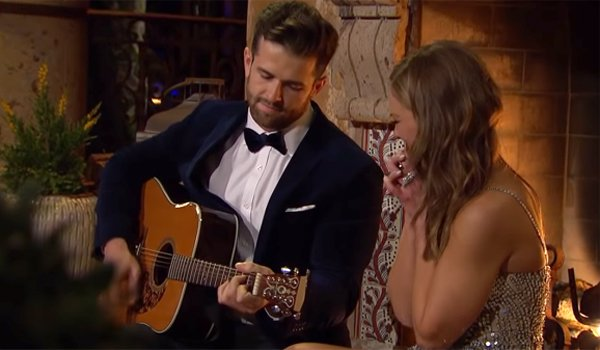 Jed Wyatt plays guitar for Bachelorette Hannah Brown ABC