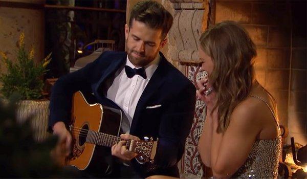Jed Wyatt plays guitar for Bachelorette Hannah Brown ABC