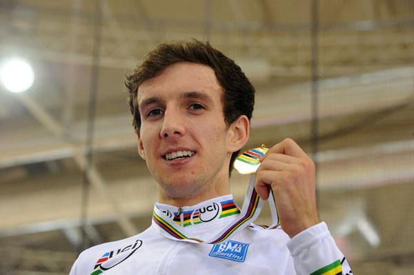 Simon Yates points race world champion 2013 track cycling world championships Minsk.jpg