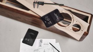 a sonus faber speaker with technical drawings