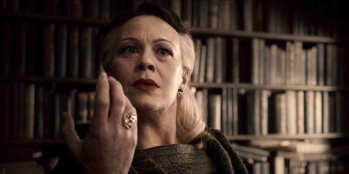 Narcissa Malfoy (Helen McCrory) after making the Unbreakable vow in Harry Potter and the Half-Blood Prince (2009)