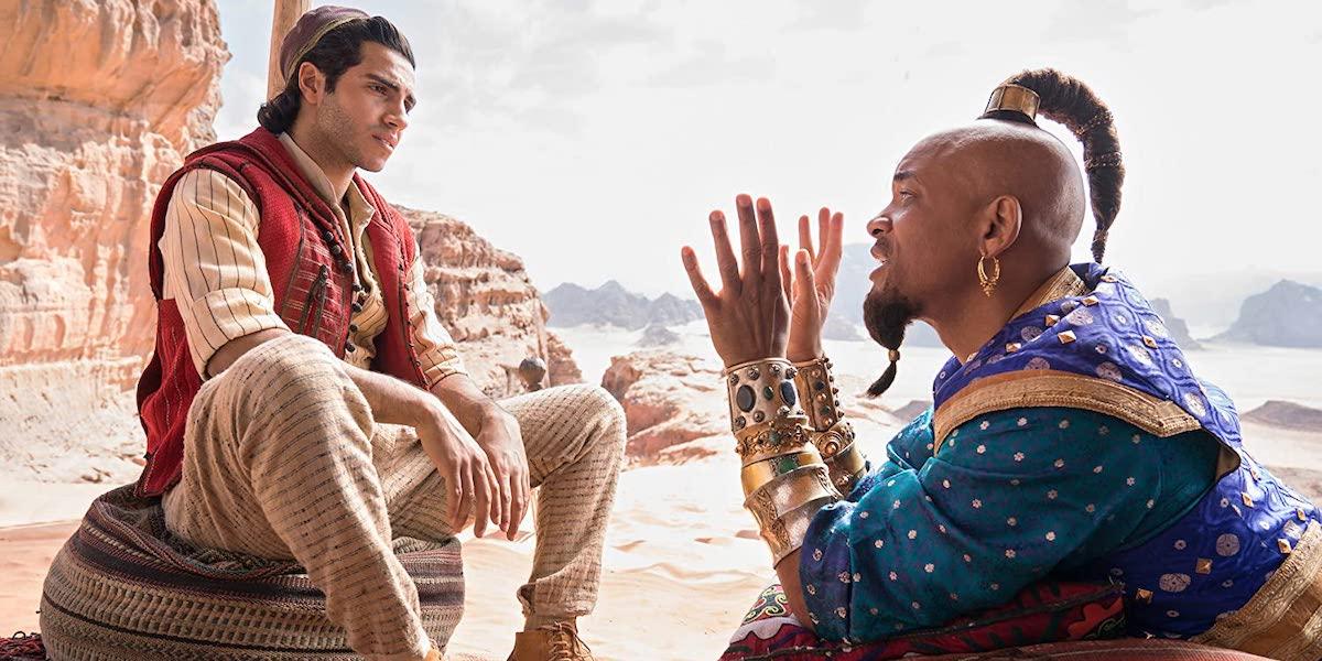 Mena Massoud and Will Smith in Aladdin 2019