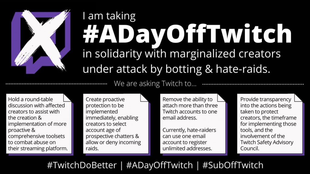 promo of #ADayOffTwitch