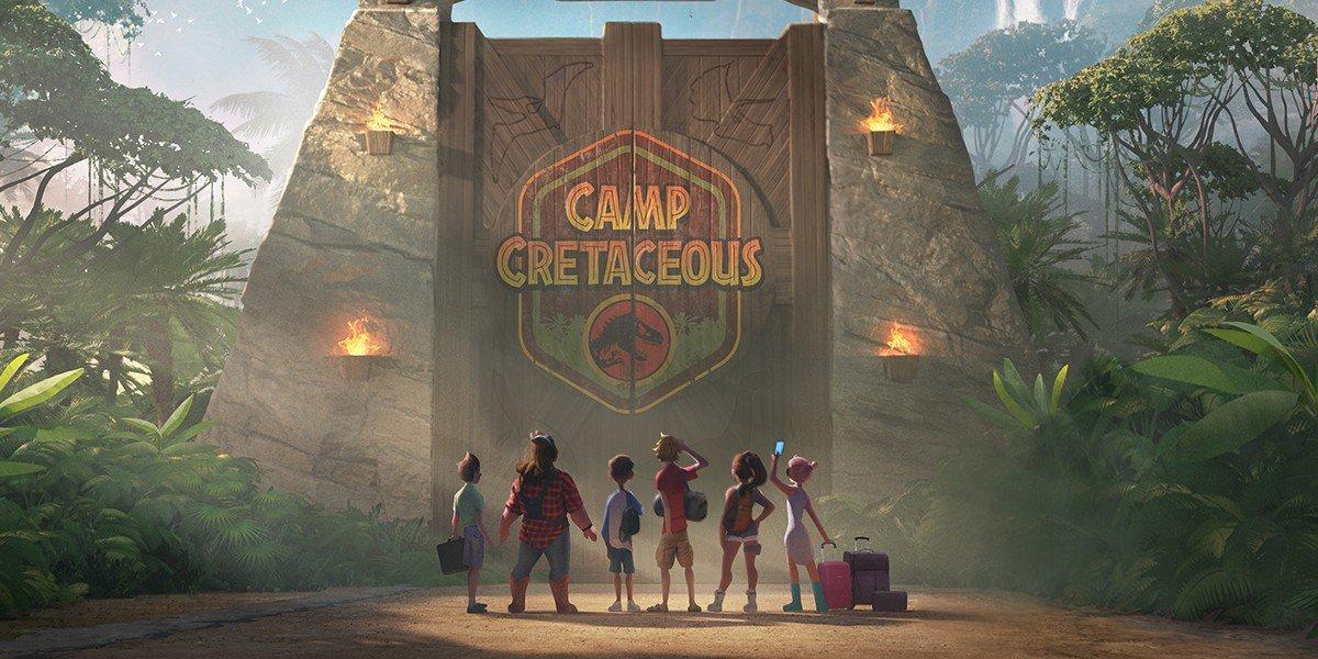 Camp Cretaceous logo Jurassic World: Camp Cretaceous netflix