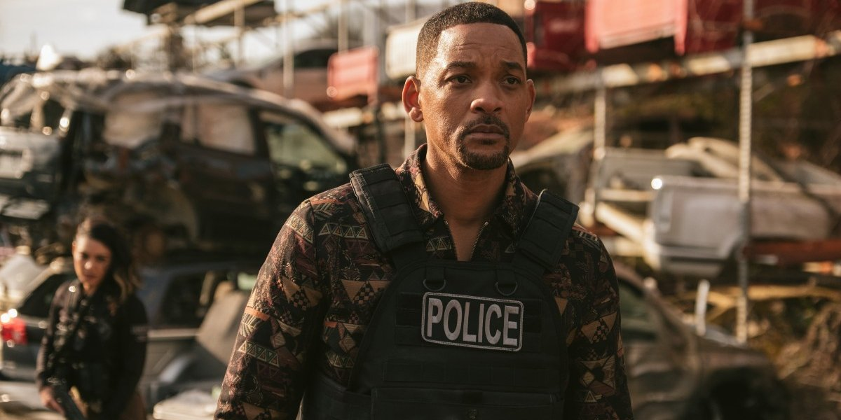 Bad Boys For Life Will Smith walks through a wrecked crime scene