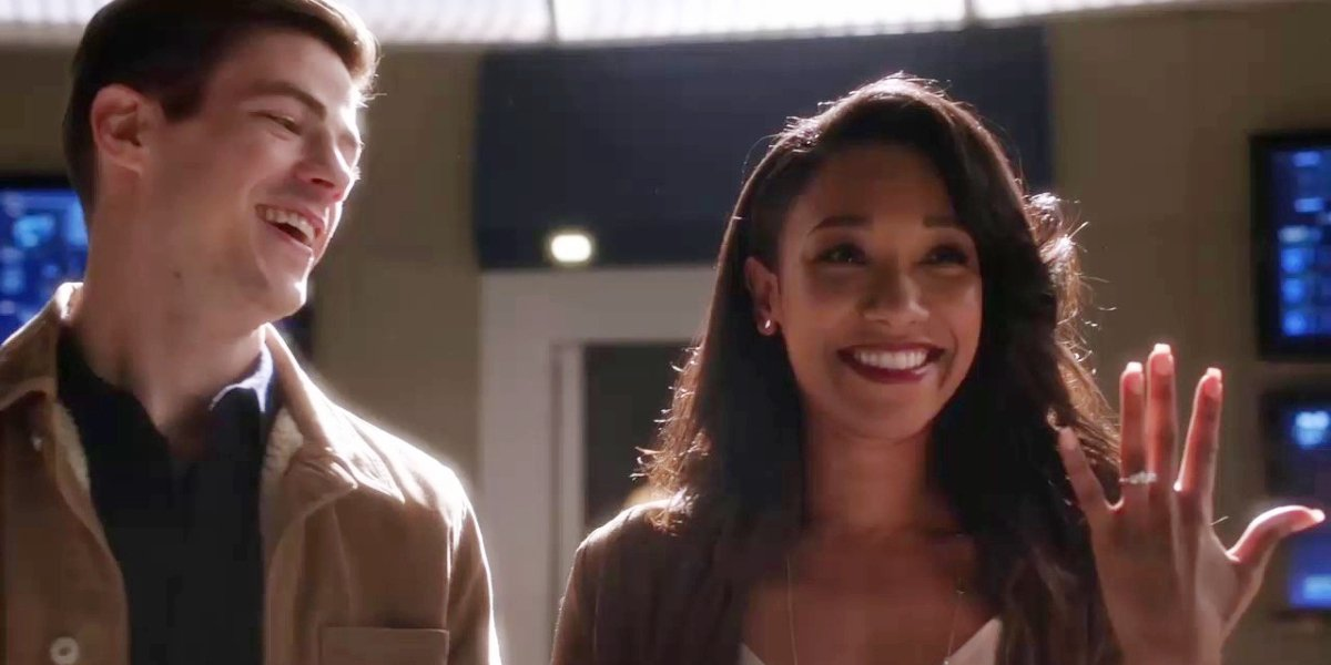 Grant Gustin and Candice Patton in The Flash