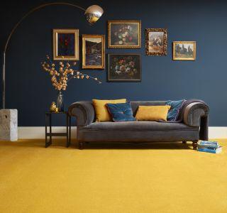 yellow carpet in living room flooring ideas