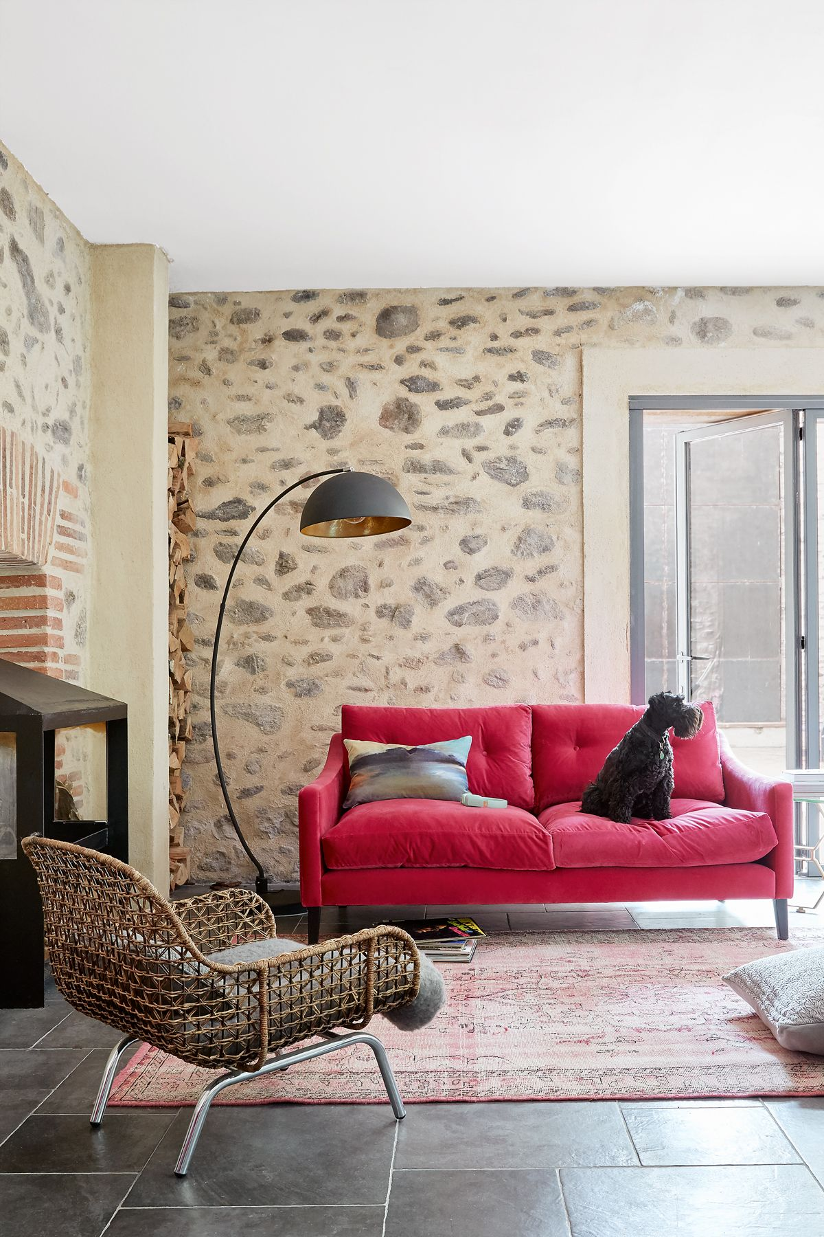Explore this chic farmhouse in France with modern rustic appeal