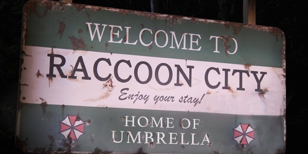 """The """"Welcome to Raccoon City"""" sign from the Resident Evil reboot's teaser"""