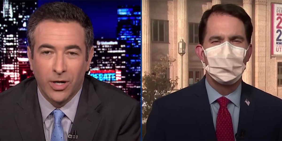 Scott Walker With A Mask On MSNBC