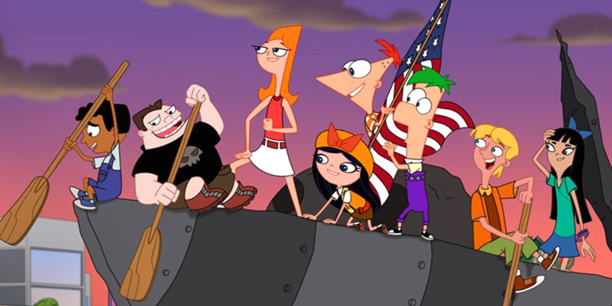 The cast of Phineas and Ferb the Movie: Candace Against the Universe