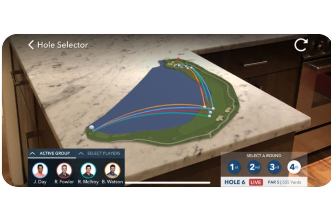 Apple's ARKit lets you see pro golfer's shots in a new way