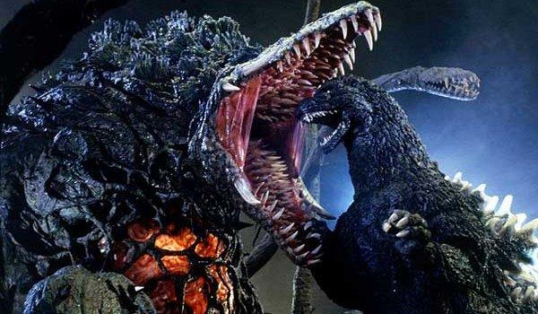 Godzilla vs. Biollante Godzilla faces down Biollante's gaping maw