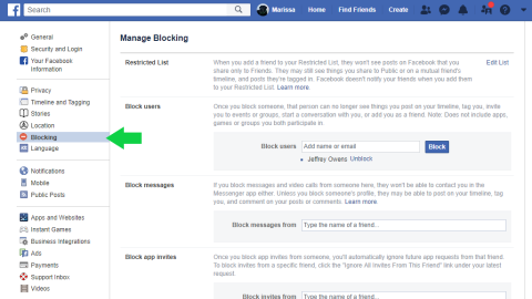 Is it possible to unblock someone on facebook