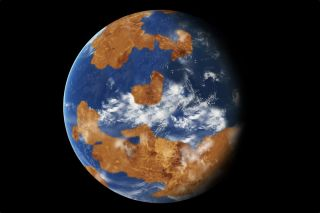 Venus may have been habitable about 4 billion years ago (as shown in this model), but runaway greenhouse warming made the planet so hot its atmosphere is a supercritical liquid. That same thing could happen to Earth, Hawking warns.