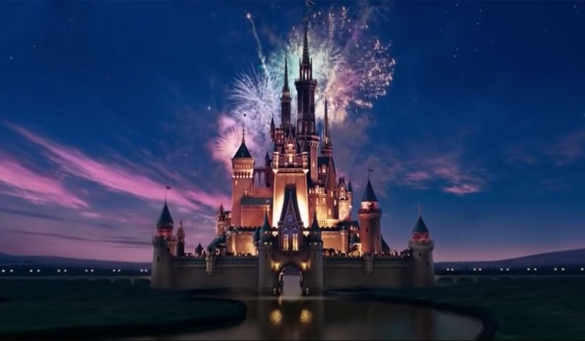 Disney Castle with fireworks.