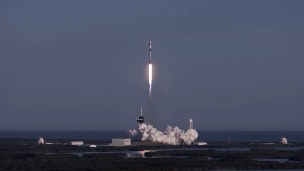 SpaceX rocket launches on record 8th flight carrying 60 Starlink satellites, nails landing thumbnail
