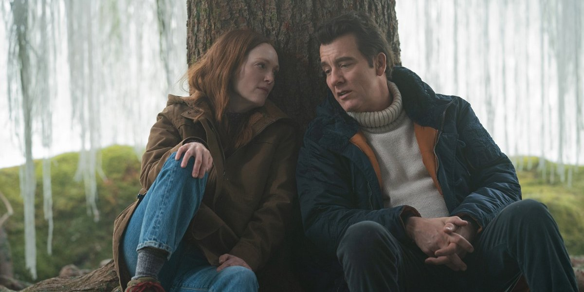 Clive Owen and Julianne Moore under the yum-yum tree in Lisey's Story