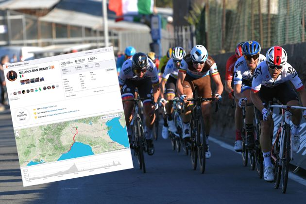 Strava stats show just what it takes to compete in finale of Milan-San Remo