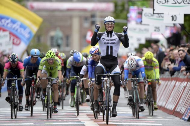 Marcel Kittel wins stage two of the 2014 Giro d'Italia