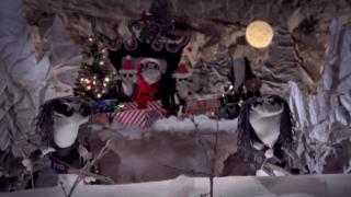 A still from the Immortal sock puppet video