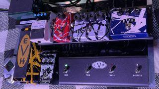 Wolfgang Van Halen's pedalboard