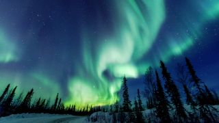 Aurora Borealis close to Yellowknife in the Northwest Territories in Canada. Credit: Vincent Demers Photography, Getty Images