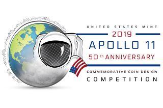 apollo 11 50th anniversary coin design
