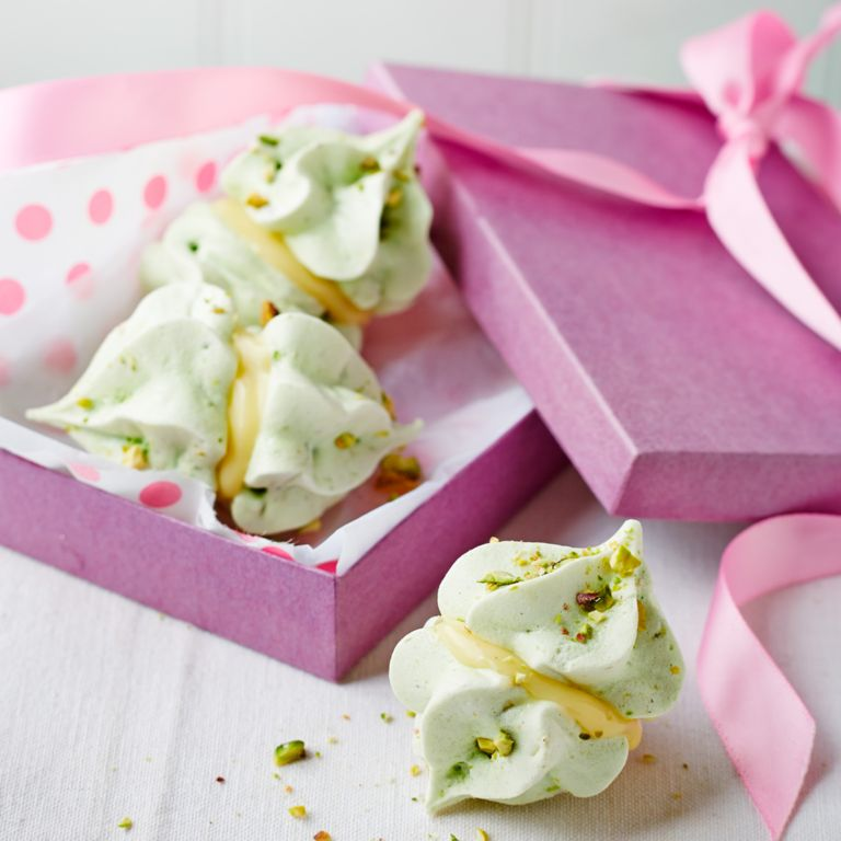 Sophie Ellis-Bextor's Pistachio and Cardamom Meringue Kisses photo