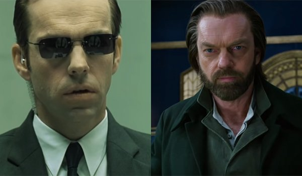 Hugo Weaving in The Matrix and Mortal Engines