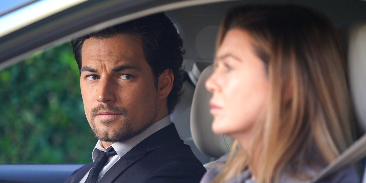 Grey's Anatomy DeLuca and Meredith in car ABC
