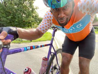 Dhani Jones and his gravel bike