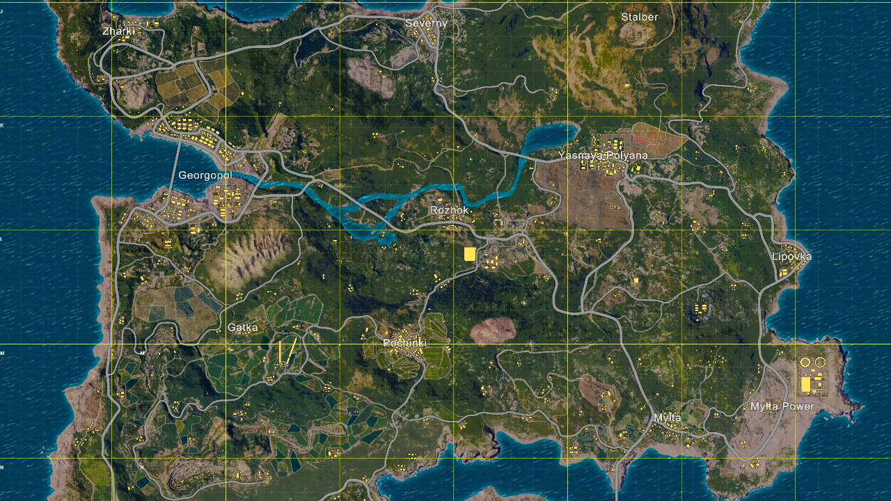 Playerunknown S Battlegrounds Map Guide Find The Best Landing Zones