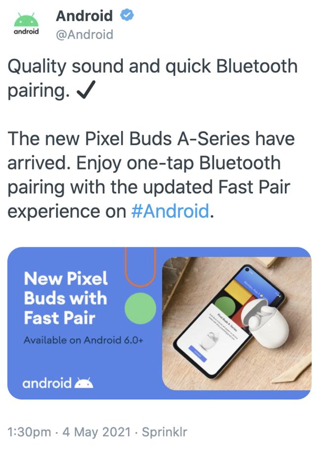 Pixel Buds A accidental tweet
