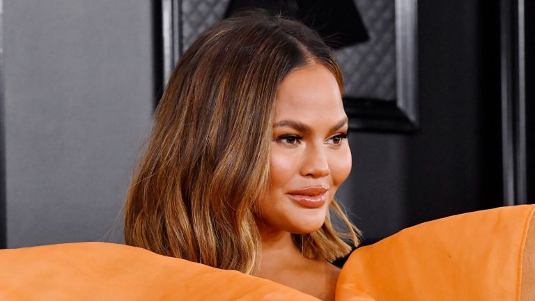 LOS ANGELES, CALIFORNIA - JANUARY 26: Chrissy Teigen attends the 62nd Annual GRAMMY Awards at STAPLES Center on January 26, 2020 in Los Angeles, California. (Photo by Frazer Harrison/Getty Images for The Recording Academy)