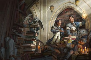 Student wizards on the cover of Strixhaven: A Curriculum of Chaos