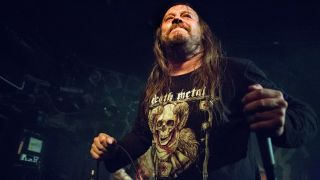 The Swedish death metal band Entombed A.D performs a live concert at John Dee in Oslo. Here vocalist Lars Goran Petrov is seen live on stage.