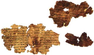 One of the Dead Sea Scrolls, the Torah Precepts scroll, provides religious instructions to members of the Jewish faith, and includes a Hebrew calendar, religious laws (called halakhot) and information about the Temple and its rituals. Credit: Library of C