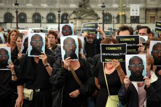 A paris protest against the execution of Troy Davis.