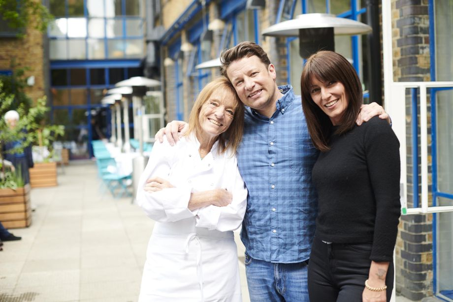 Jamie Oliver, Ruth Rogers and Davina McCall in Jamie Oliver: The Naked Chef Bares All