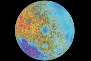 Topographic map of the moon, Orientale
