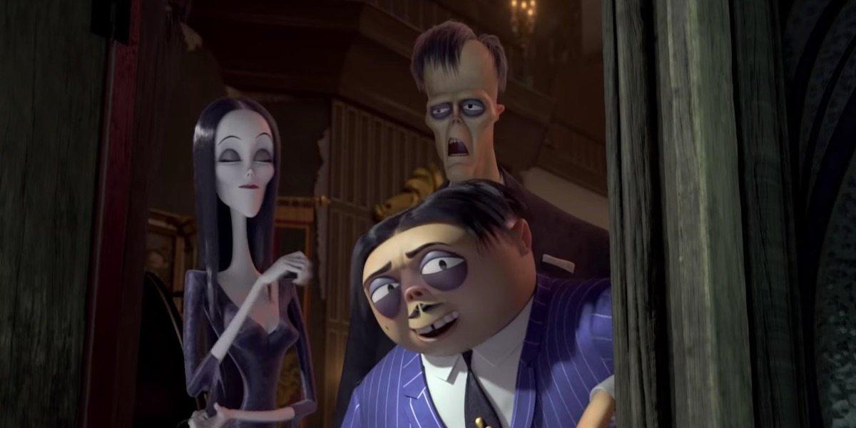 Morticia, Gomez, and Lurch