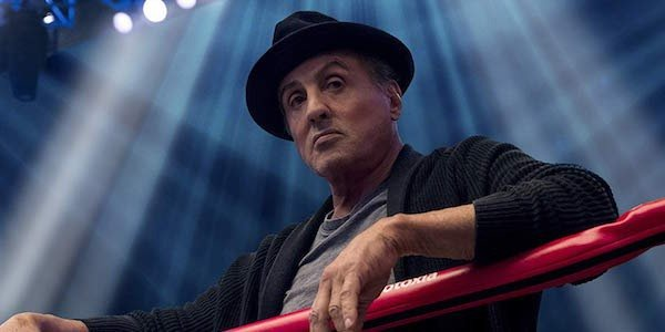 Sylvester Stallone as Rocky Balboa at the boxing ring in Creed II
