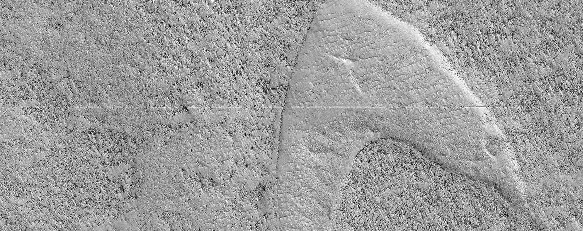 NASA Spacecraft Spots 'Star Trek' Logo on Mars