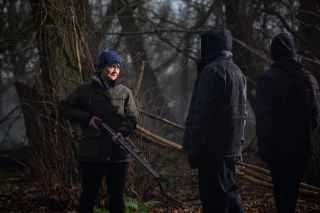 Moira intervenes with a loaded gun in Emmerdale