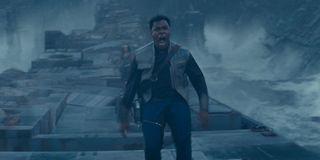 John Boyega as Finn screaming for Rey in Star Wars The Rise Of Skywalker